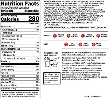 Amazon.com: Muscle Milk Genuine Protein Powder, Cake Batter, 32g Protein, 2.47 Pound: Health & Personal Care