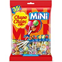 CHUPA CHUPS Mini Lollipops Bag - Mini Version Of Classic Chupa Chups Candy - The Perfect Miniature Treat - Bag Of 35…