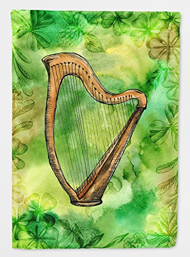 Caroline's Treasures BB5763CHF Irish Harp Flag, Multicolor, Large