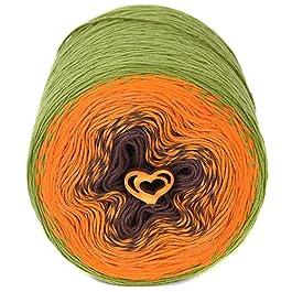 ZuzuHobby Gradient Cotton Yarn for Hand Knitting, Assortment Cakes Multicolor, Wonderful Gift for Crocheter, Indika Soft Yarn for Crocheting, 9.88 oz / 984 Yards (814)