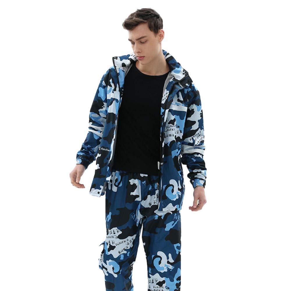 Navy Azul Camuflaje Impermeable Pantalones de Lluvia Traje ...