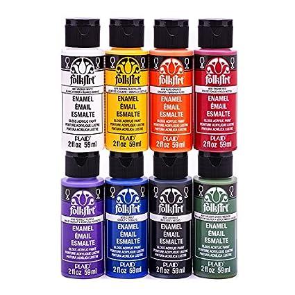 Acrylic Enamel Paint >> Folkart Enam8set Enamel Paint Set