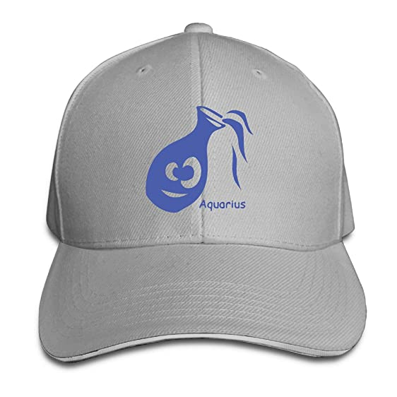 Zodiac Symbols Aquarius Menswomens Fashion Trucker Hat Baseball Cap