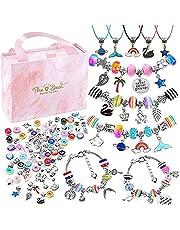 Charm Bracelet Making Kit for Girls, Kids' Jewelry Making Kits Jewelry Making Charms Bracelet Making Set with Bracelet Beads, Jewelry Charms and DIY Crafts with Gift Box(93PCS)