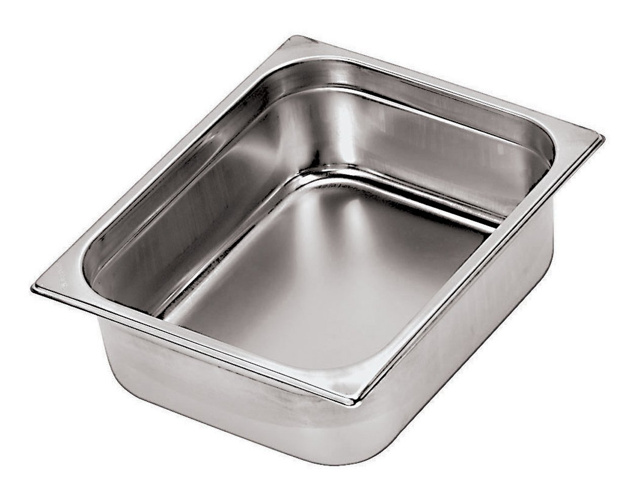Paderno World Cuisine 7 inches by 6 1/4 inches Stainless-steel Hotel Pan - 1/6 (depth: 6 inches)
