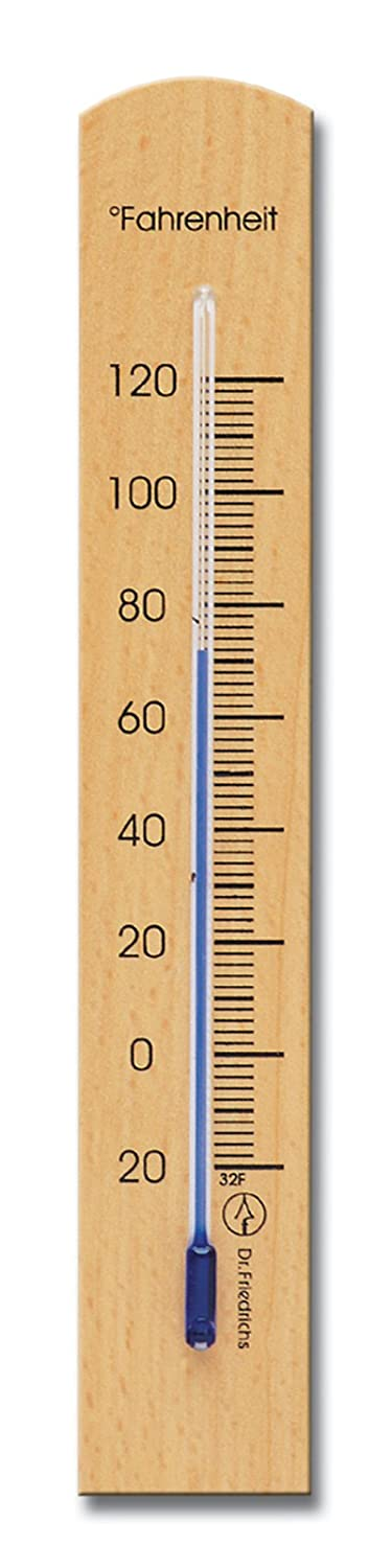 Amazon.com : Wooden Indoor Wall Thermometer Solid Beech Wood 7.12 ...