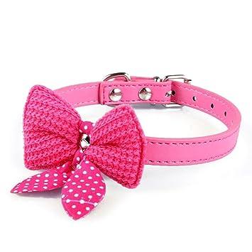 Wilk Collar para Mascotas, Gatos, Gatitos, Perros Pequeños con Campana, Collar Ajustable DE 1,5 cm × 37 cm, Color Rosa: Amazon.es: Productos para mascotas
