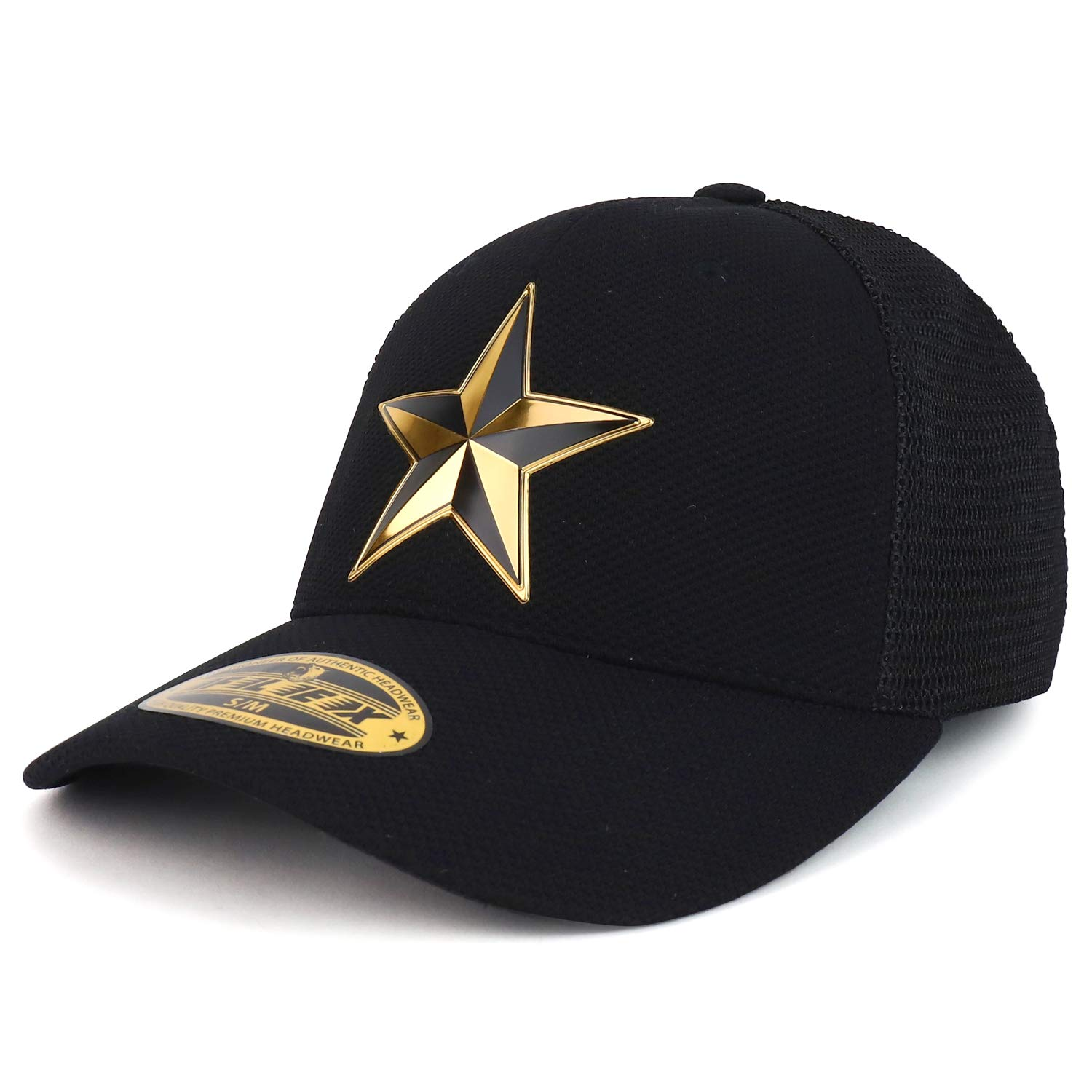 Trendy Apparel Shop High Frequency Lone Star Stretch Fitted Mesh Trucker Cap