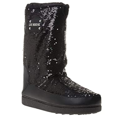 eb339cd53 Amazon.com: Love Moschino Sequin Womens Boots Black: Clothing