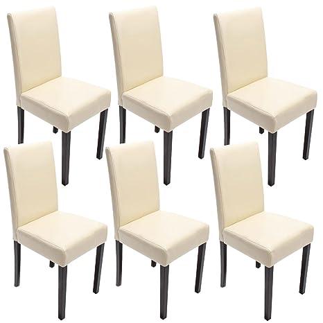 Mendler Set 6x sedie Littau pelle per sala da pranzo 43x56x90cm ...