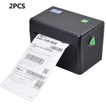 ZUKN 4 Pulgadas Portátil Impresora Térmica De Etiquetas con Puerto ...