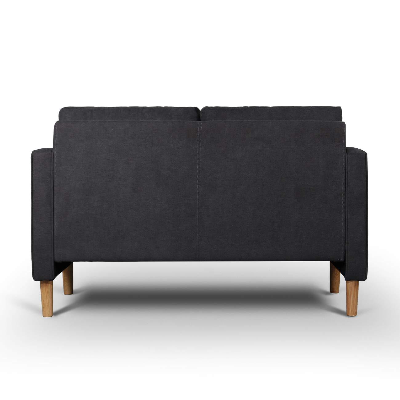 AODAILIHB Modern Soft Cloth Tufted Cushion Loveseat Sofa Small ...