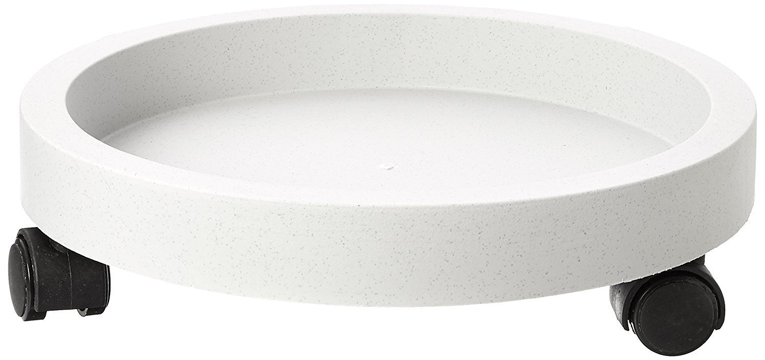 Rocky Mountain Goods Planter Caddy Wall rim to secure planter 11 Tip proof White color planter dolly doesnt overheat plants Outdoor // Indoor Extra strength wheels for easy plant moving