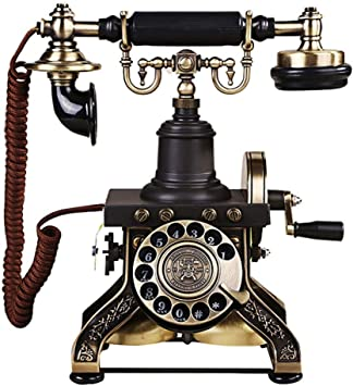 Office Star Hotel Art Gallery Luxury Home Telephone Old Fashioned Phone Vintage Antique Style White Resin Hands Free Telephone- Classic Decoration Suitable for Home