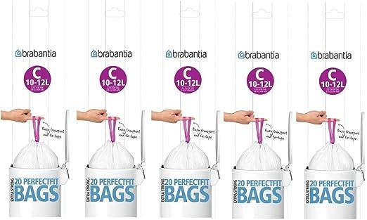 Brabantia - Lote de 20 bolsas de basura extra fuertes para ...