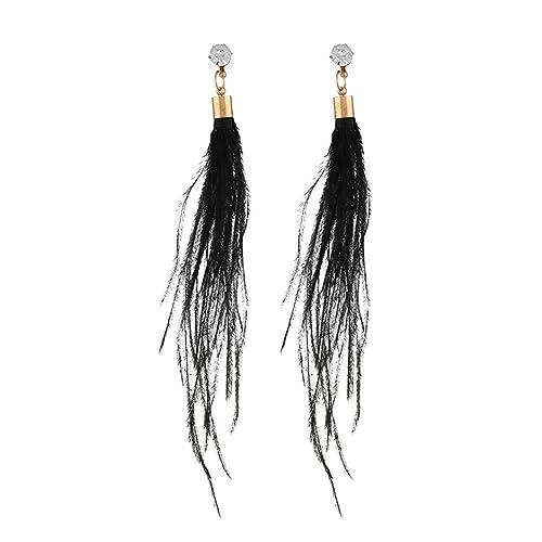 da4179dccfb61 Amazon.com: RTYou Simple Earrings, Women Long Dangle Earring Feather ...