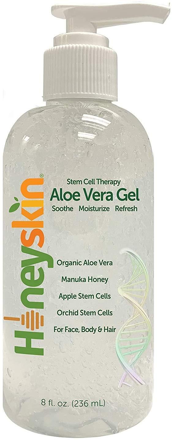 Organic Aloe Vera Leaf Gel - 100% Pure With Manuka Honey