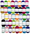 Miragoodsbasics Basic 40 Assorted Colors Acrylic Yarn Skeins with 3 E-Books from MiraGoods