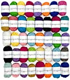 Miragoodsbasics Basic 40 Assorted Colors Acrylic Yarn Skeins with 2 E-Books