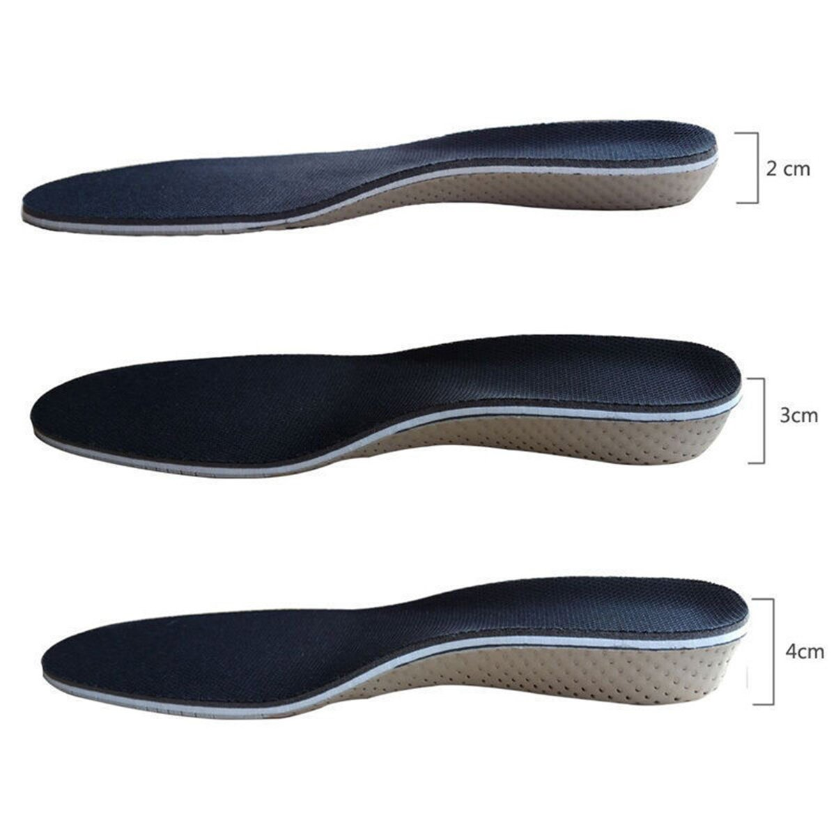 1 Pair of Memory Cotton Invisible Insoles Height Increase Insole Insert Heel Lifting Shoe Pads Cushion Insoles (Height 1.18inch)