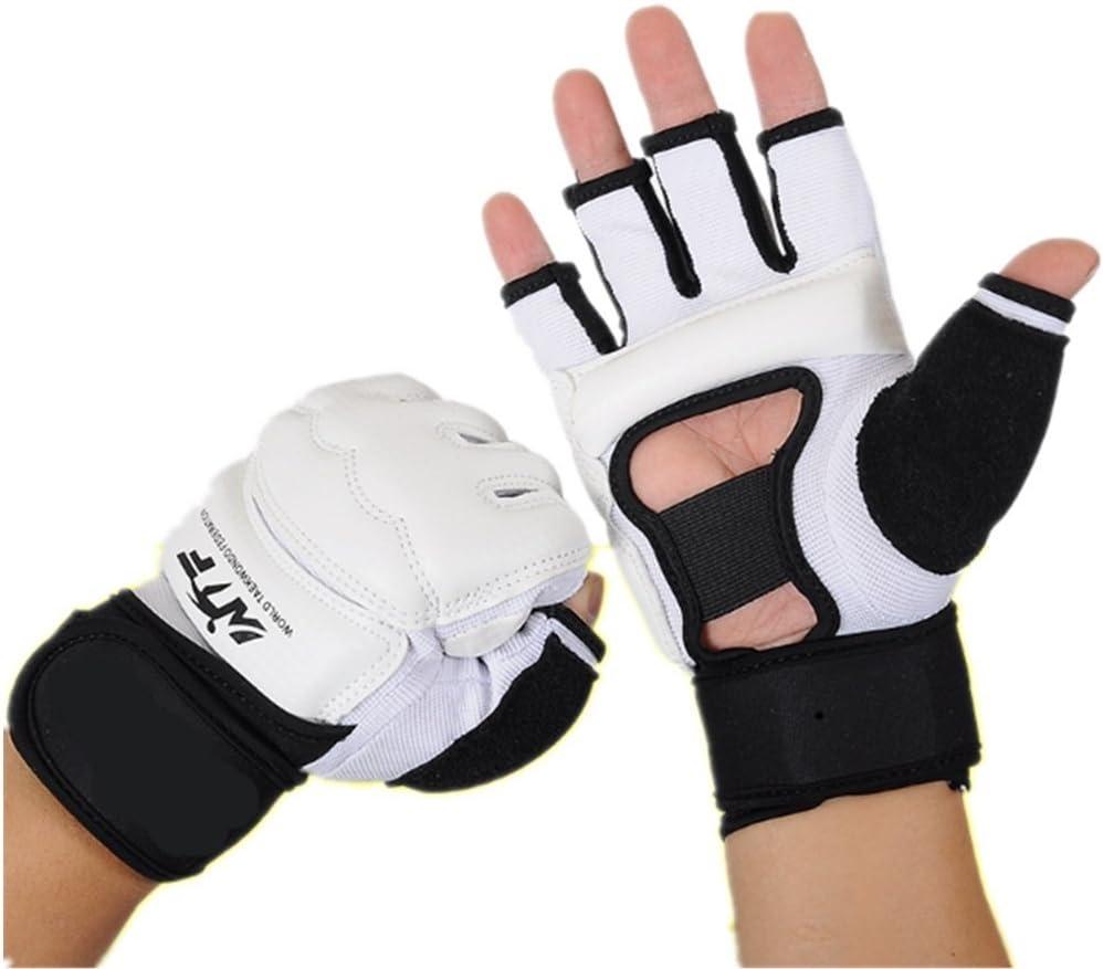 Baselay Half Finger Taekwondo Gloves, WTF Approved Muay Thai Sandbag Boxing Training Punching Bag Half Mitts Sparring Martial Arts Karate Fighting Glove for Men Women Kids : Sports & Outdoors