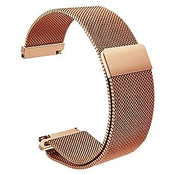 f7c3ea2e8d7 24mm Milanese bande de montre bracelet magnétique métallique en acier  inoxydable de remplacement de la boucle