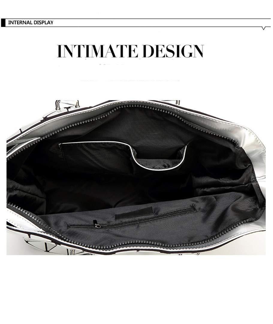 6b98cb480bd60 ... Geometrie Pailletten Spiegel Plain Folding Taschen Taschen Taschen  Leuchtende PU Casual Tote Paket 3 B07N1GH4C1 Umhngetaschen ...