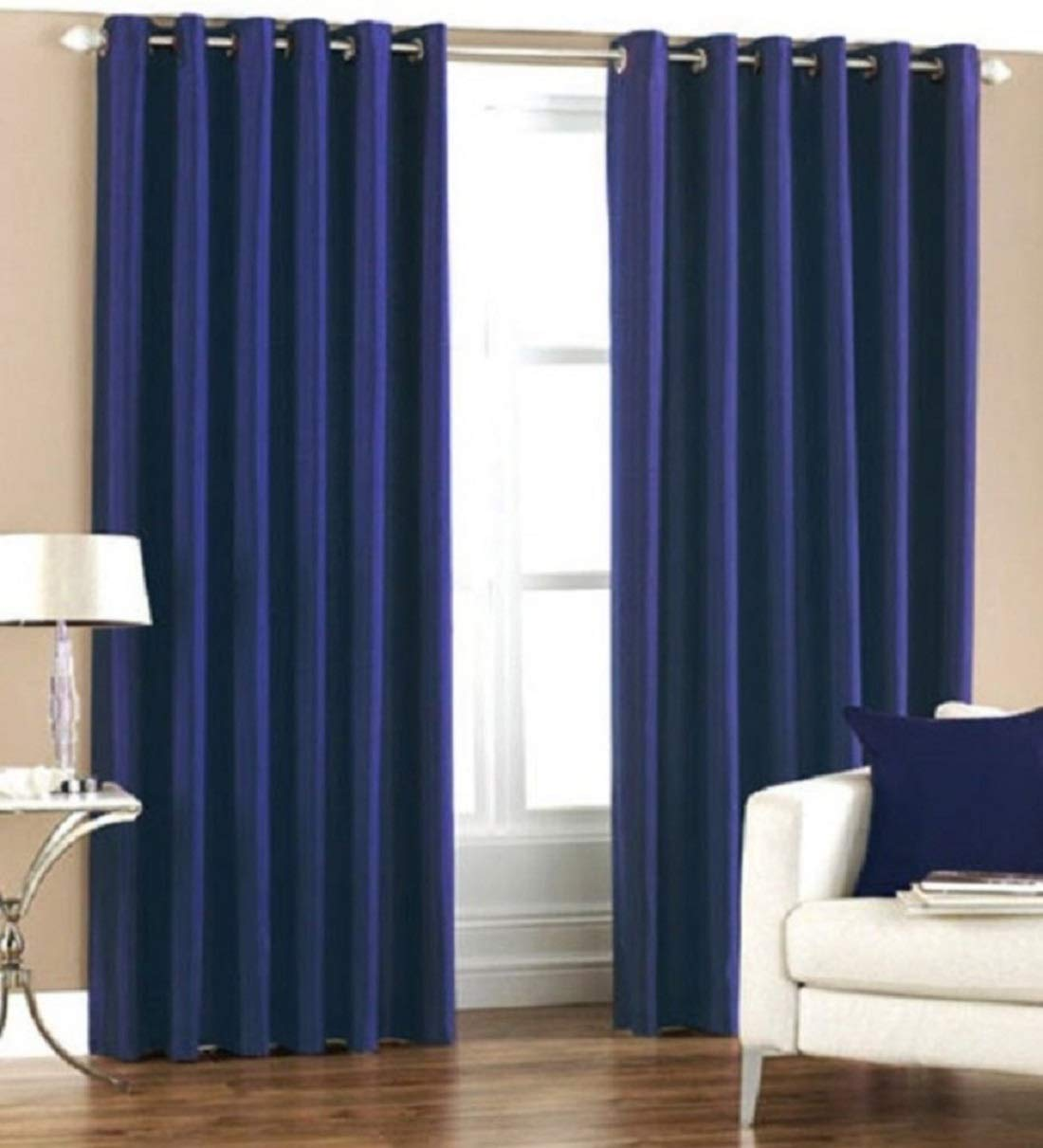 Set of 2 curtains with Faux Silk and Premium Quality