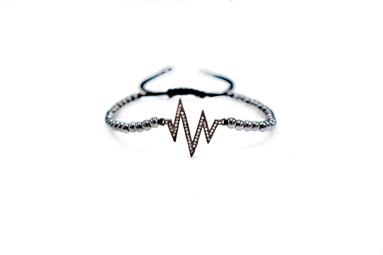 Nerefy Stainless Steel 4Mm Beads Charm Bracelets Length Adjustable