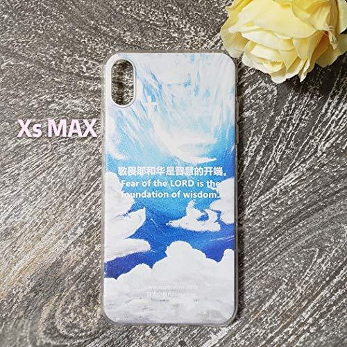 - 甘大小姐Roseceline-Christian iPhone Xs MAX Phone case 福音基督教Iphone手机壳-The Cross from Heaven来自天堂的十字架