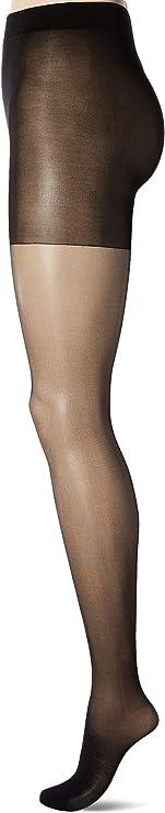 Secret Silky Control Top Sheer Toe Pantyhose Firm Suppor Size C,Jet Black 10411