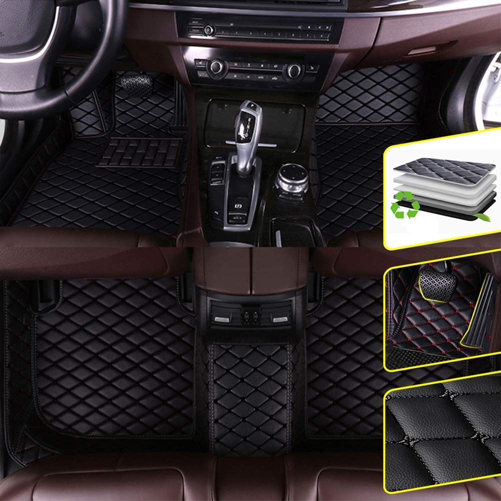 DBL Auto Fu/ßmatten f/ür F ORD 2013-2018 Ford Focus Car-Styling-Zubeh/ör Auto Teppich Abdeckungen Fu/ßmatten 1 Set rot