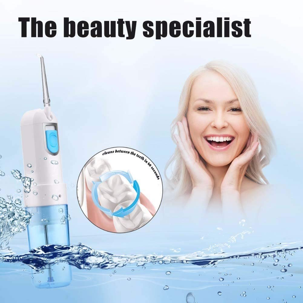 &Water Flosser for Teeth USB Rechargeable Cordless Oral Irrigator Floss Water Jet for Teeth Cleaning Whitening, Braces