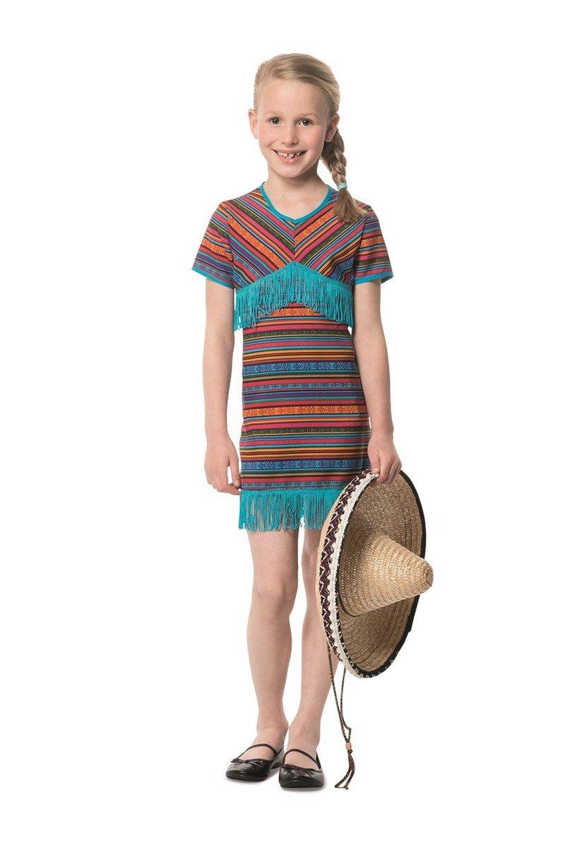 Generique - Disfraz Vestido Mejicano Turquesa niña: Amazon.es ...