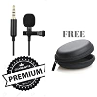 Ceuta Retails® Professional Grade Lavalier Lapel Microphone Omnidirectional Mic with Easy Clip On System Perfect for Recording Youtube/Interview/Video Conference/Podcast/iPhone/ASMR