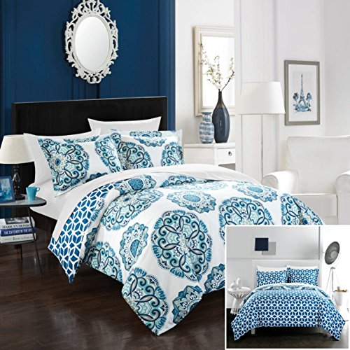 Aqua King Duvet - Chic Home Ibiza 3 Piece Duvet Set, King, Blue,