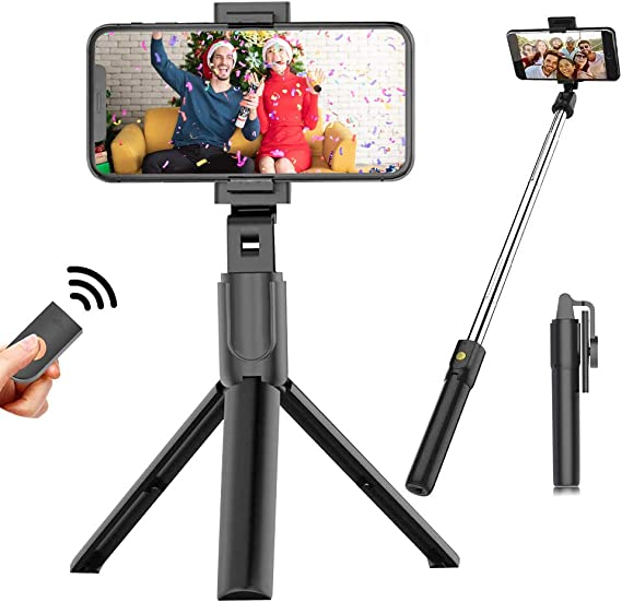 m/ás Huawei Galaxy S9//S9 Plus//S8//S8 Plus//Note8 Selfie Stick tr/ípode extensible para selfie con mando a distancia inal/ámbrico desmontable y tr/ípode para iPhone X//iPhone 8//8 Plus//iPhone 7//7 Plus