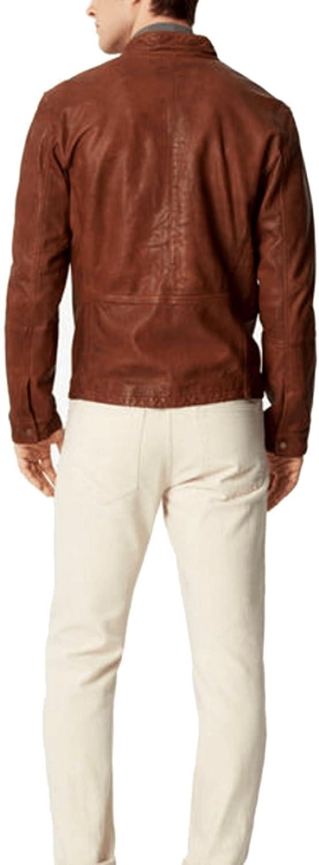 GLAMDUST Mens Pure 100/% Lambskin Leather Solid Biker Leather Jacket
