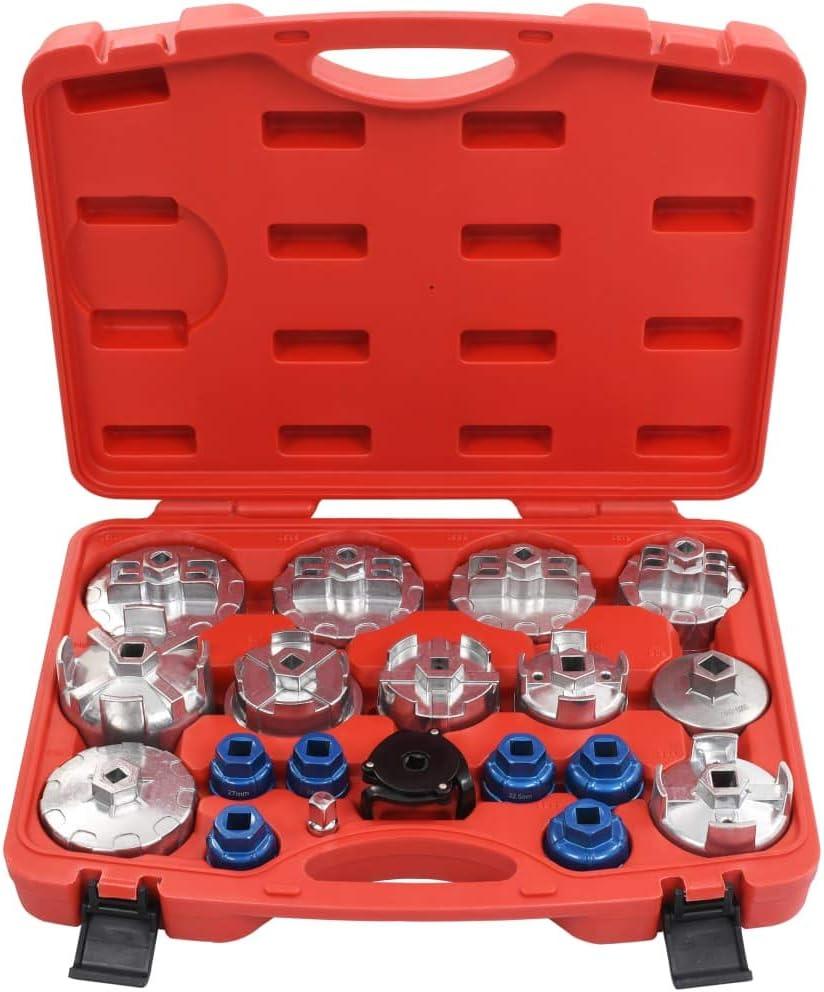 vidaXL Ölfilterkappen Satz 15-tlg Ölfilterschlüssel Werkzeug ÖlFilter Kappe