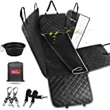 bellabailey Dog Car Seat Cover Waterproof with Mesh Window, 1 Removable Pad, 2 Dog Selt Belts Machine Washable - Dog…