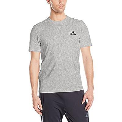 adidas Men's  3 Stripe Shorts Sleeve Jersey: Clothing