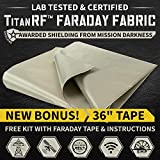 "New! TitanRF Faraday Fabric 44"" x 36"" + Extra"