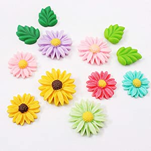 T-Juan MM Beautiful Daisy Flower Decorative Refrigerator Magnets Resin Countryside Floral Fridge Magnets Whiteboard Office Photo Picture Locker Magnets for(8Pcs)