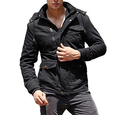 JMETRIC Herren Übergangsjacke Mode Männer warme langärmelige
