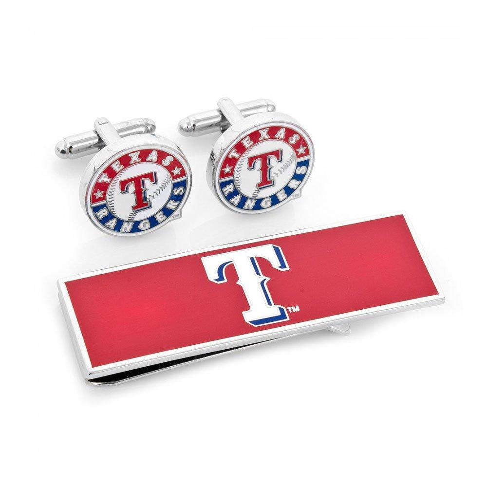 Texas Rangers Cufflinks and Money Clip Gift Set