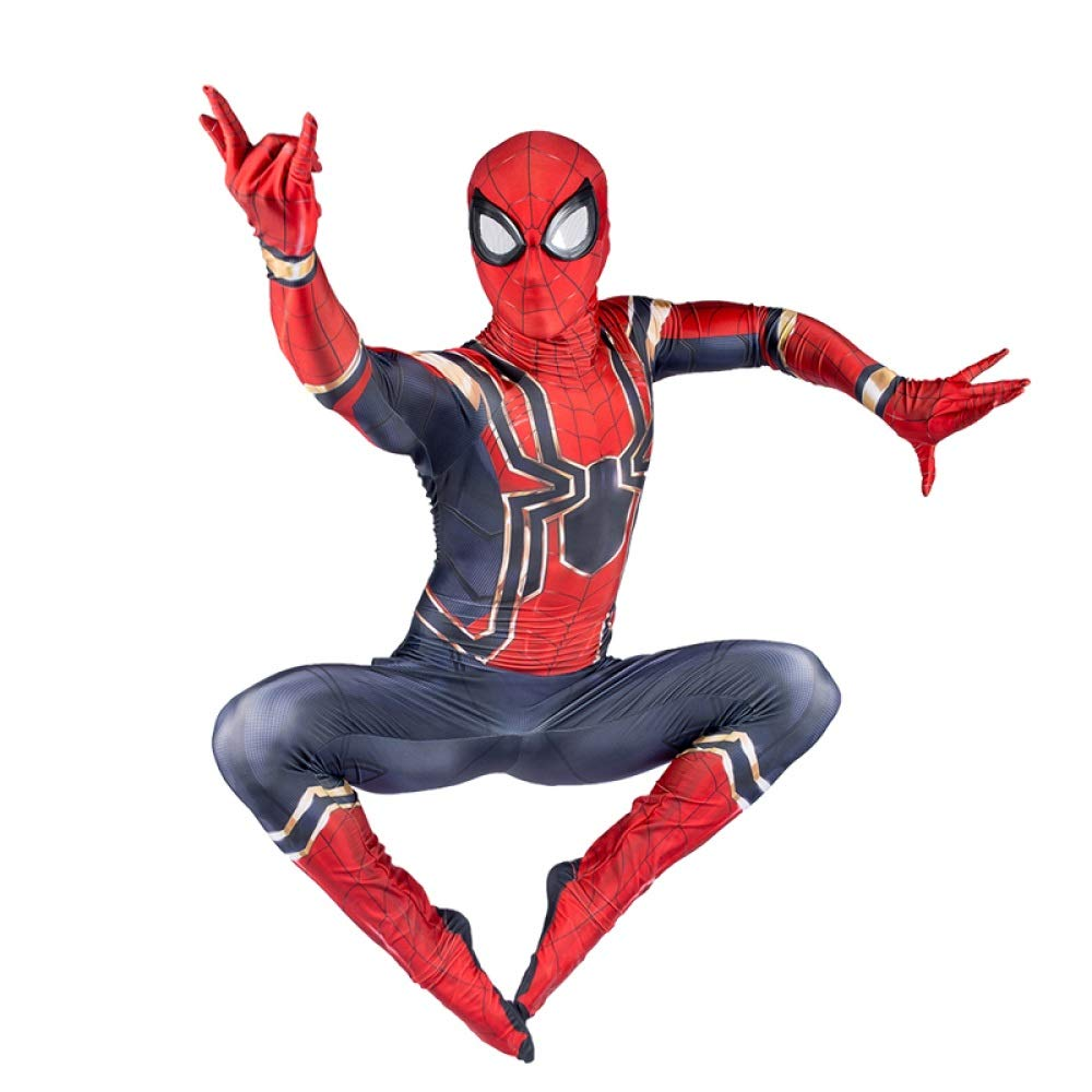 GIFT ZHIZHUXIA Spiderman Cosplay Costume Avengers Iron Spiderman Bambino Adulto Halloween Fancy Dress Party Movie Party Costume Puntelli Costume Body Ufficiale Spiderman ( Colore   Adult , Dimensione   XL )
