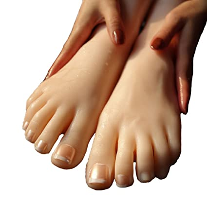 ba74644d0a3fc3 Amazon.com  Sunny Rain 1 Pair Silicone Model Skin Woman is Feet Mold ...