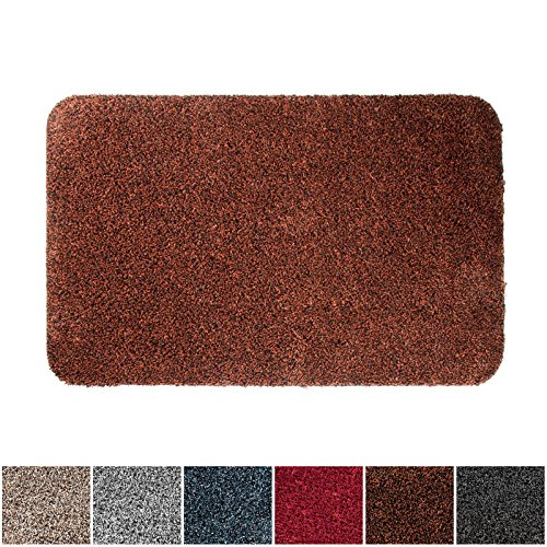 casa pura ECOGuard Entrance Mat | Natural | 100% Cotton Pile | Highly Absorbent | Terracotta | 24