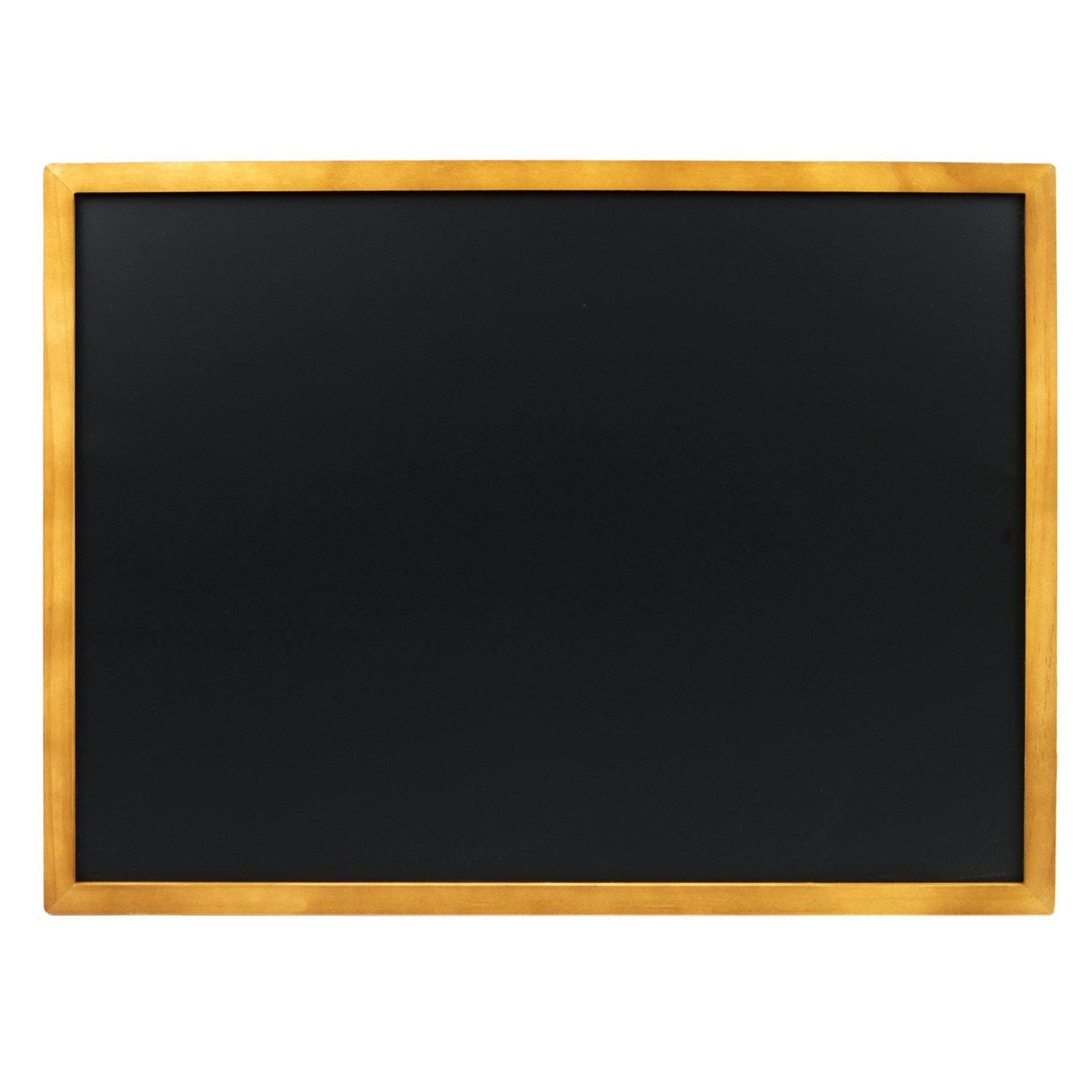 VersaChalk Porcelain Steel Wall Mounted Chalkboard with Magnetic Surface - 24''x 18'' with Circular Clip Hangers Dual Purpose Sign Board