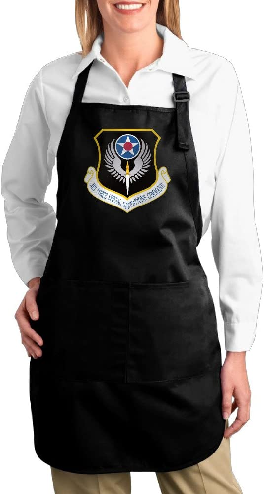 K7UM Bib Aprons US Air Force Special Operations Command Insignia Kitchen Apron With Pockets